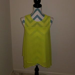 Vince Camuto Neon green top